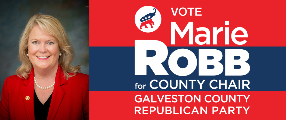 Vote Marie Robb for County Chair Galveston